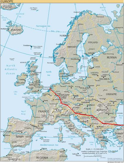 Auto Map of Europe Road Map Europe